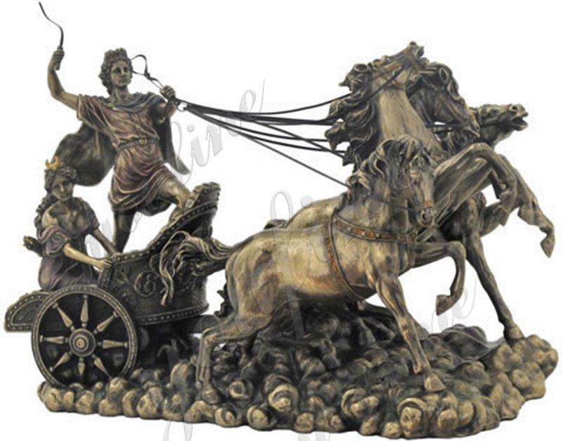 bronze chariot and Apollo statue