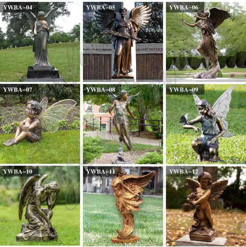 custom life size bronze angel statues