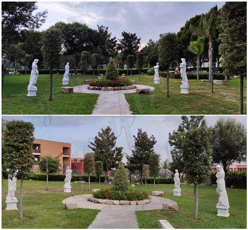 four seasons statues garden