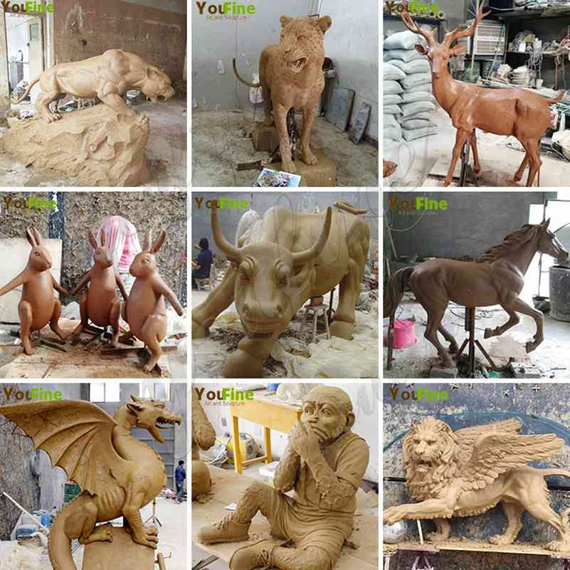 our clay models of brozne sculptures