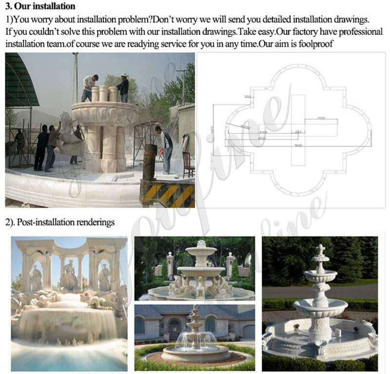 outdoor stone fountains for sale