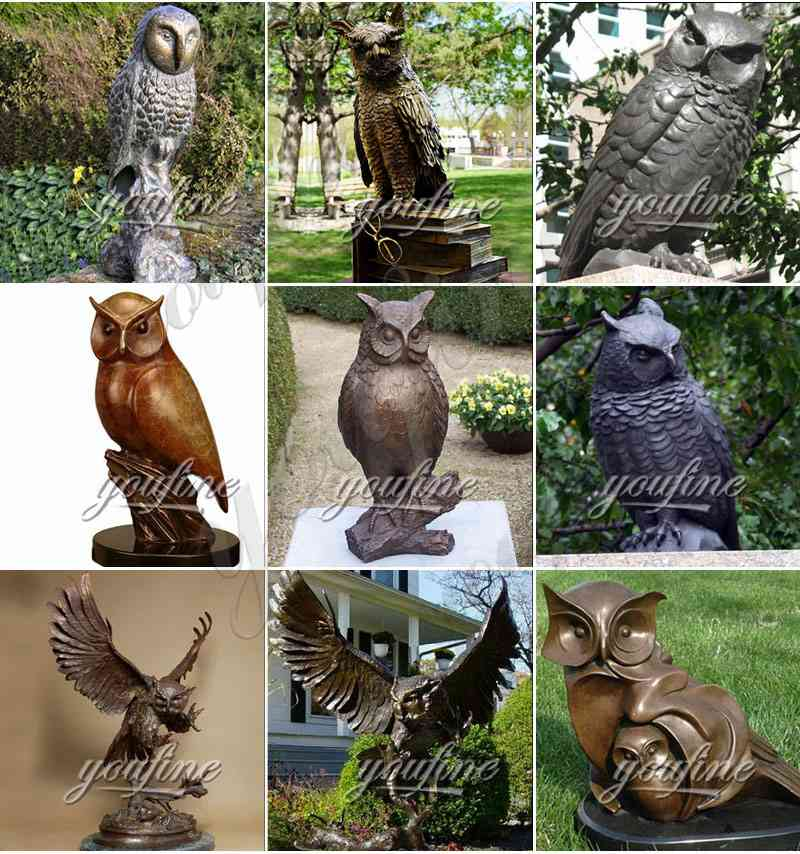owl bronze statue for sale