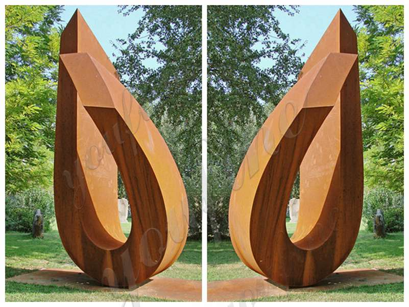 Abstract Rusty Corten Sculpture Garden Decor Suppliers