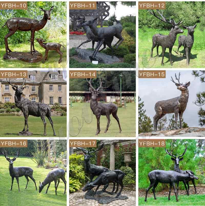 Bronze Elk Outdoor Statue Garden Decor for Sale
