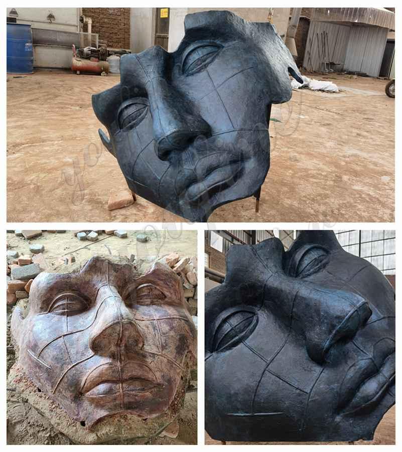 Bronze Face Sculpture Replica from Belgian Client Feedback