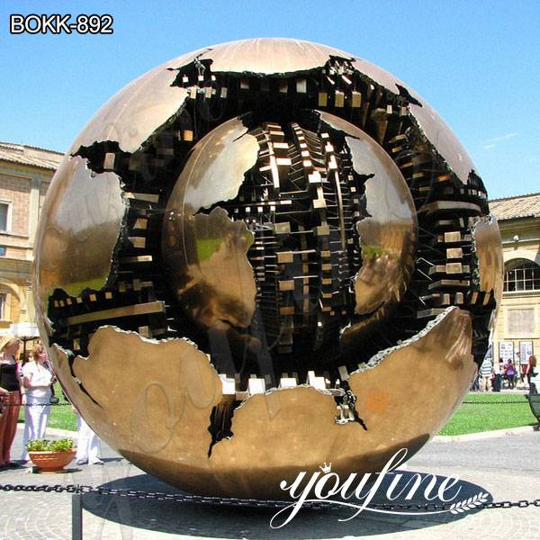 Bronze Sphere within Sphere Sculpture