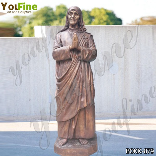 Catholic Life Size Bronze Mother Teresa Statue for Church Client BOKK-879