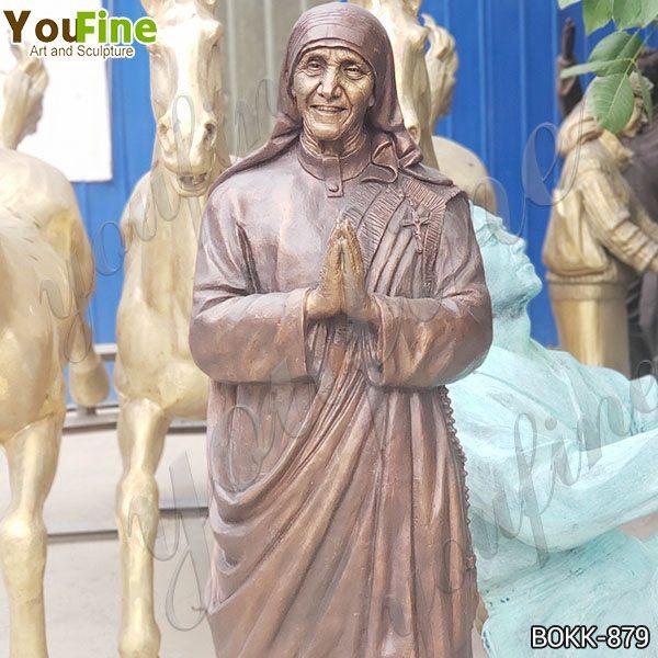 Catholic Life Size Bronze Mother Teresa Statue