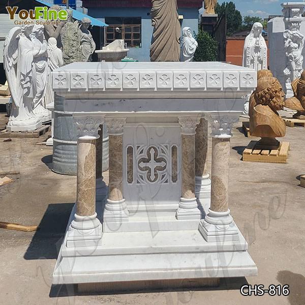 Catholic Modern White Marble Church Altar Table for Sale