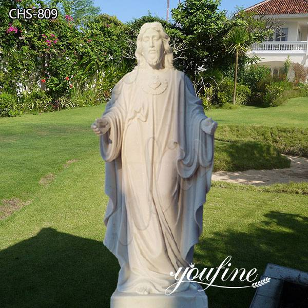 Catholic White Marble Jesus Christ Statue from Factory Supply