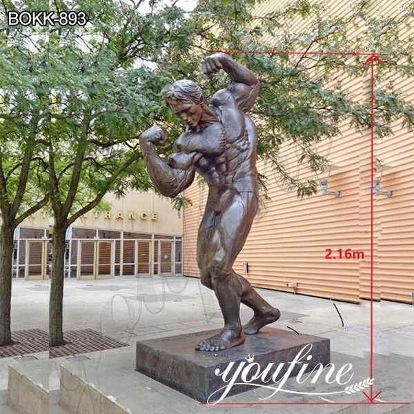 Custom Made Famous Arnold Schwarzenegger Bronze Statue for Sale