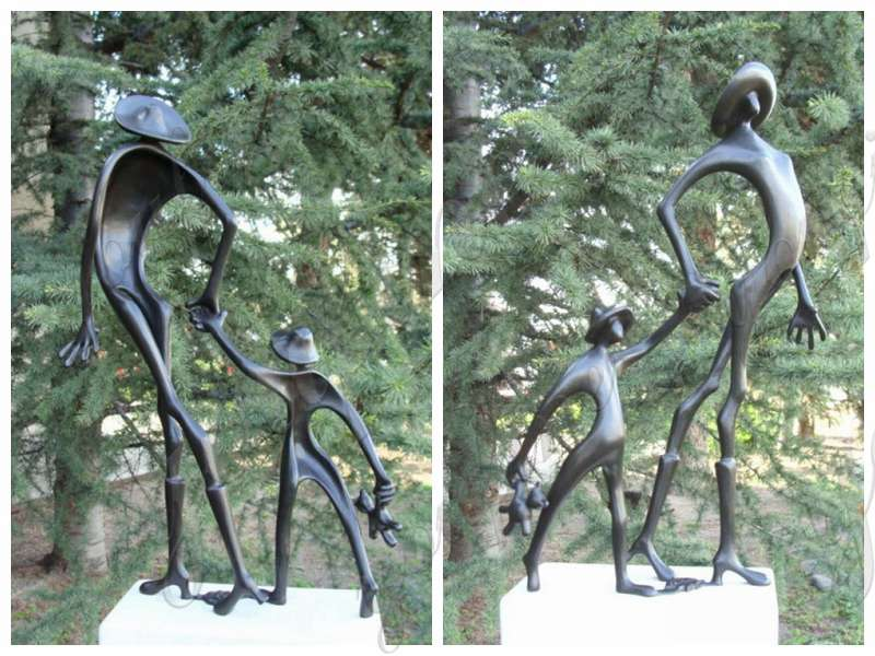 Cute Childhood Bronze Sculpture Artwork