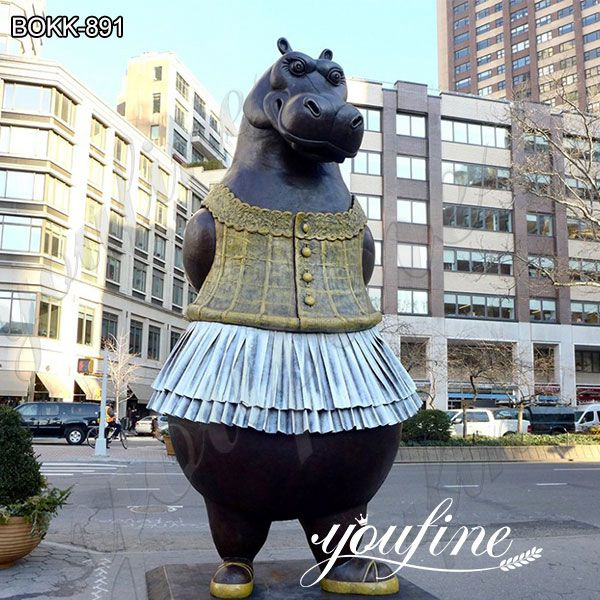 Famous Large Outdoor Bronze Hippo Ballerina Statue for Sale BOKK-891
