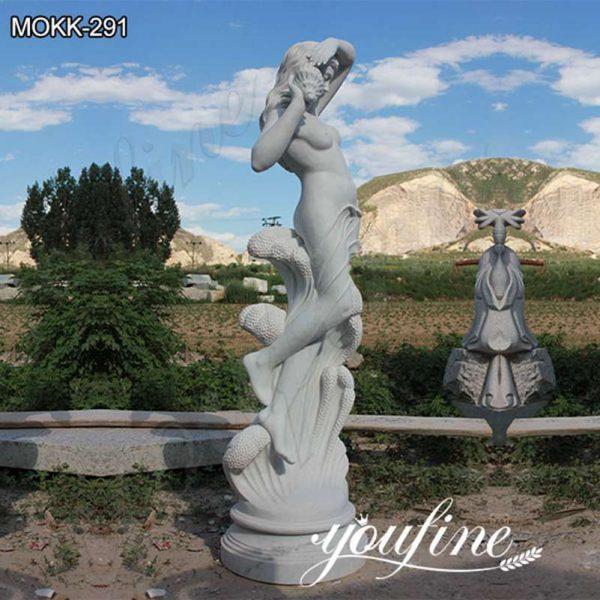 Garden Ferdinando Vichi Sea Nymph Marble Statue Suppliers