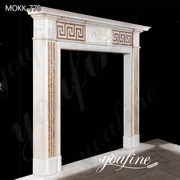 Georgian Style Marble Tile Fireplace Facing Interior Decoration