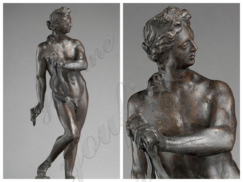 Greek Bronze Apollo with Lyre Life Size Statue from Factory Supply