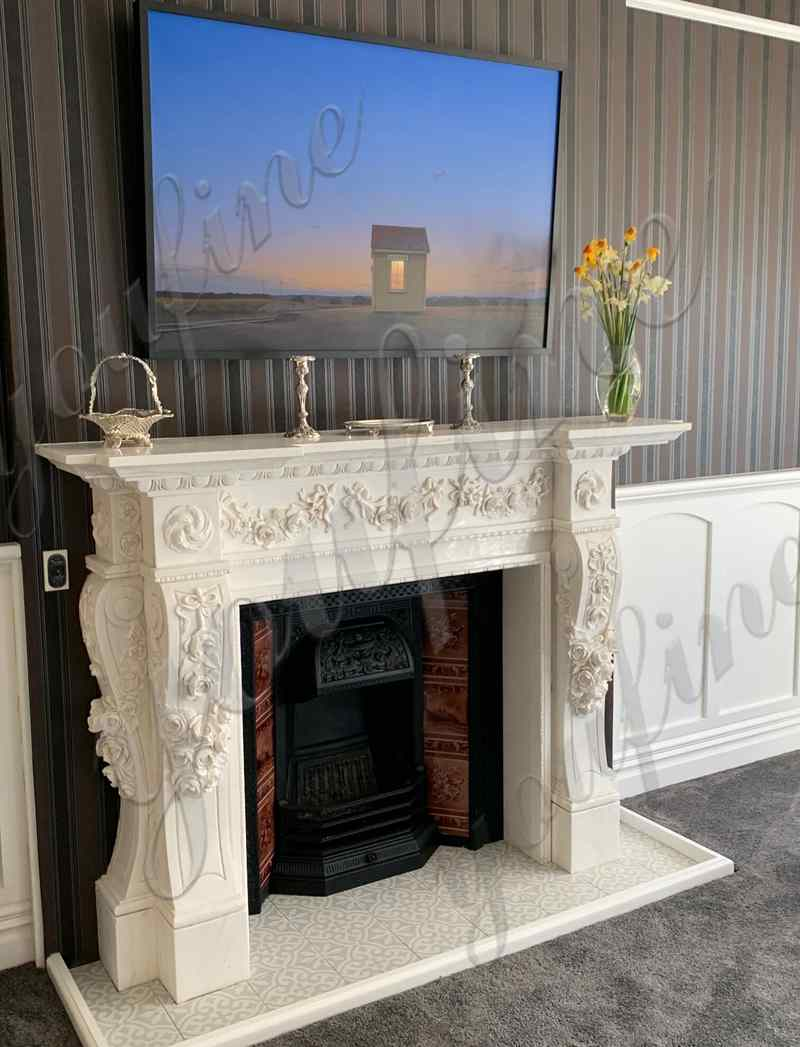 Hand Carved White Marble Georgian Fireplace Mantels Feedback from New Zealand Client