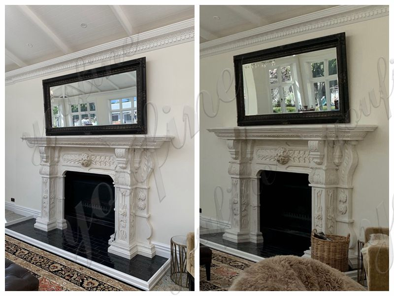 Hand Carved White Marble Georgian Fireplace Mantels Feedback