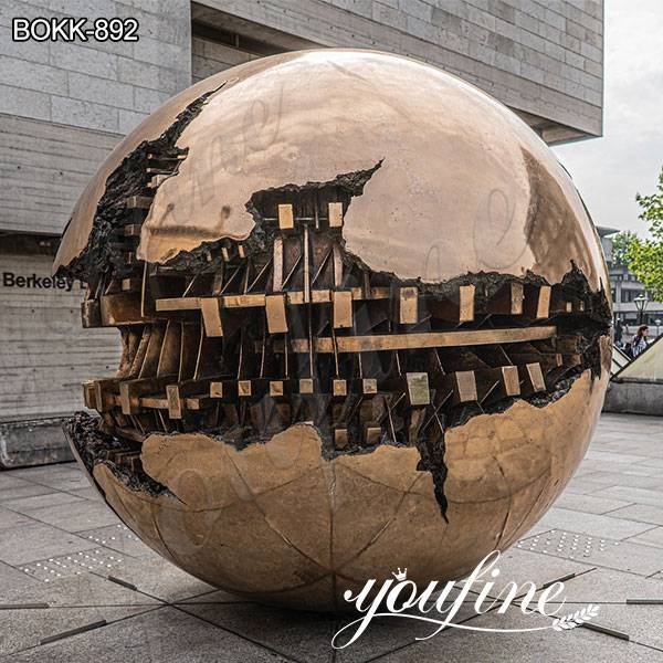 Large Bronze Sphere within Sphere Sculpture by Arnaldo Pomodoro Suppliers