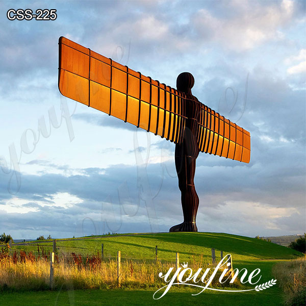 Large Outdoor Angel of the North Corten Sculpture for Sale