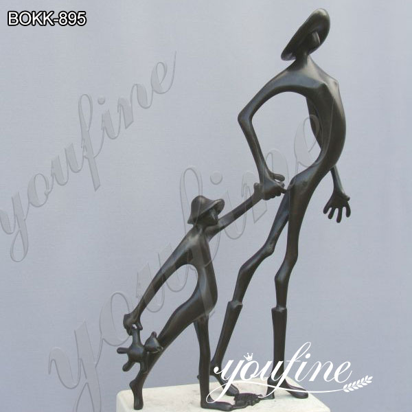 Life Size Abstract Cute Childhood Bronze Sculpture Artwork on Sale