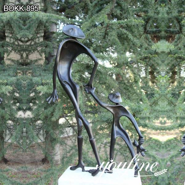 Life Size Abstract Cute Childhood Bronze Sculpture Artwork