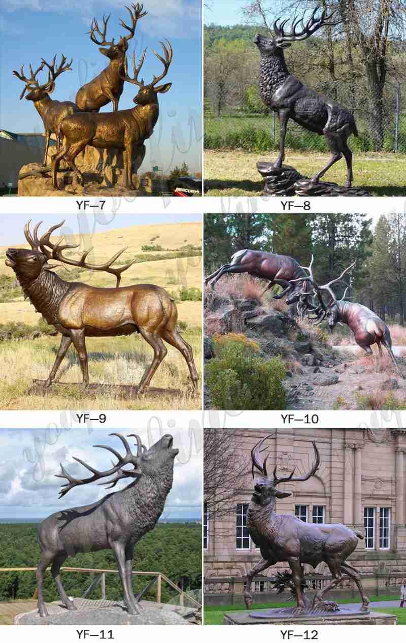Life Size Bronze Elk Outdoor Statue