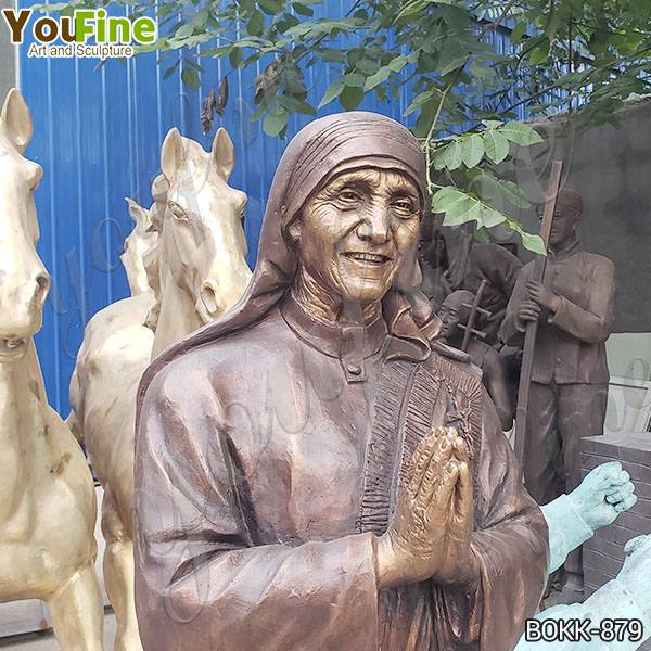 Life Size Bronze Mother Teresa Statue for Church Client