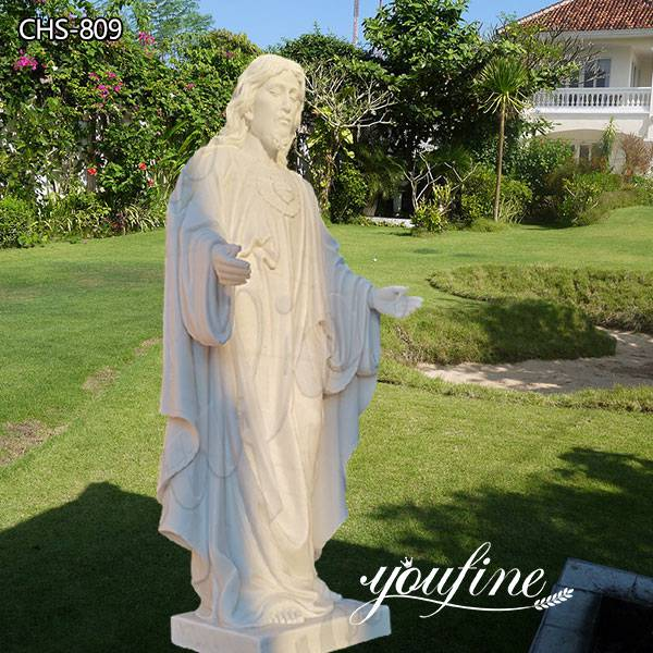 Life Size Catholic White Marble Jesus Christ Statue from Factory Supply