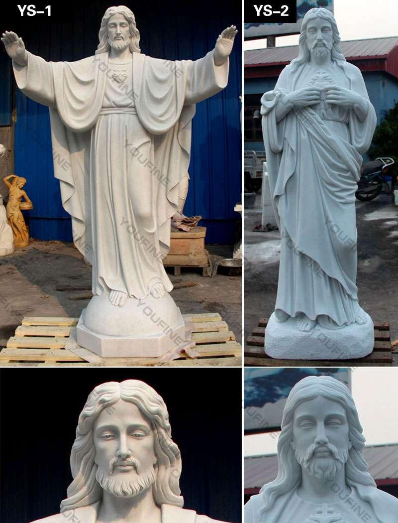 Life Size Catholic White Marble Jesus Christ Statue
