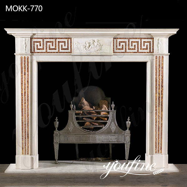 Marble Tile Fireplace Facing Interior Decoration on Sale