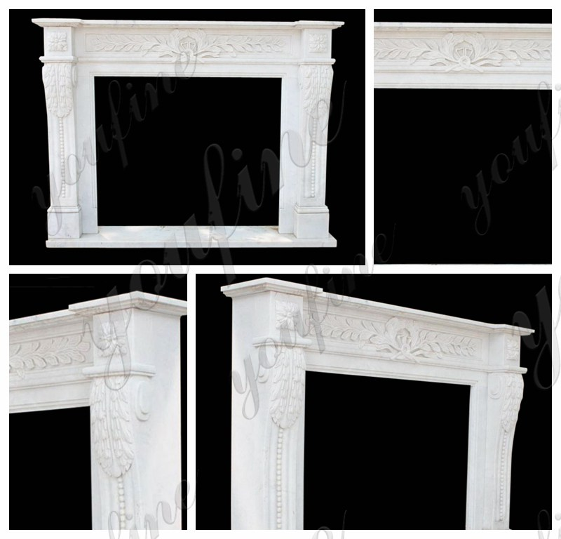 Marble Tile Fireplace Mantel Factory Supply