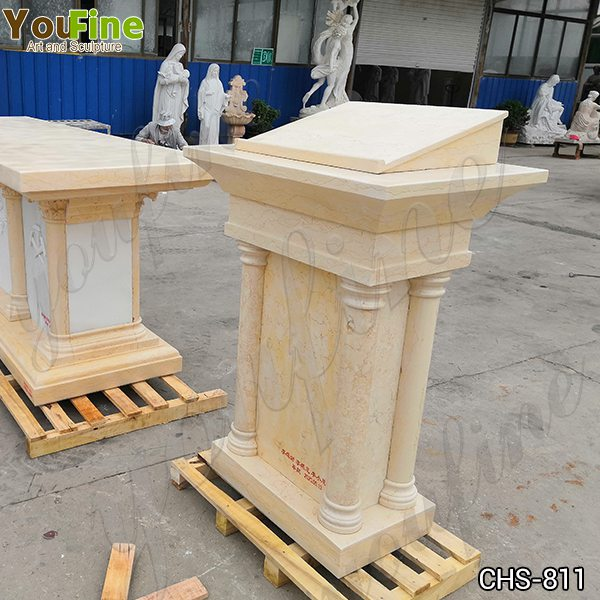 Natural Beige Marble Church Pulpit for Sale