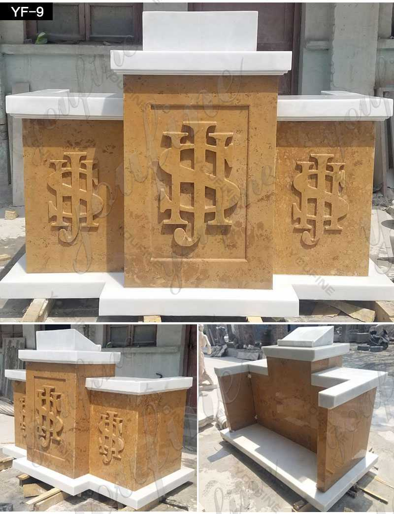 Natural Beige Marble Church Pulpit