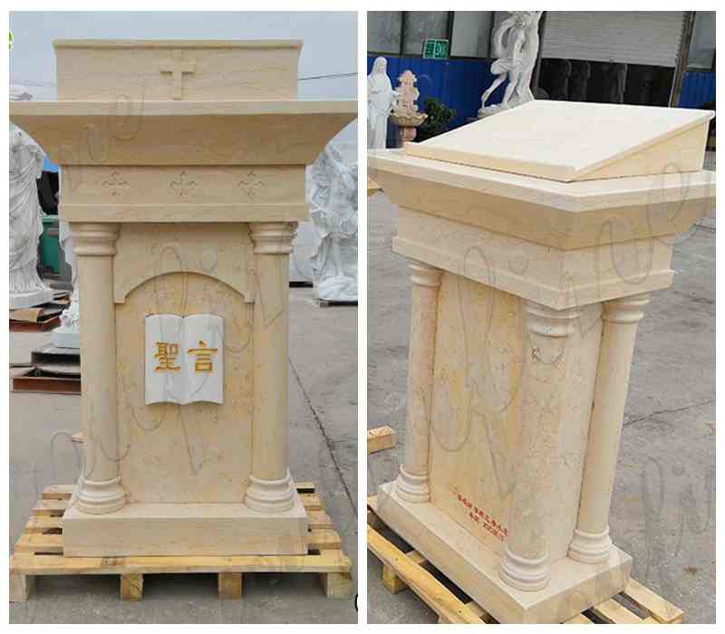 Natural White Marble Pulpit