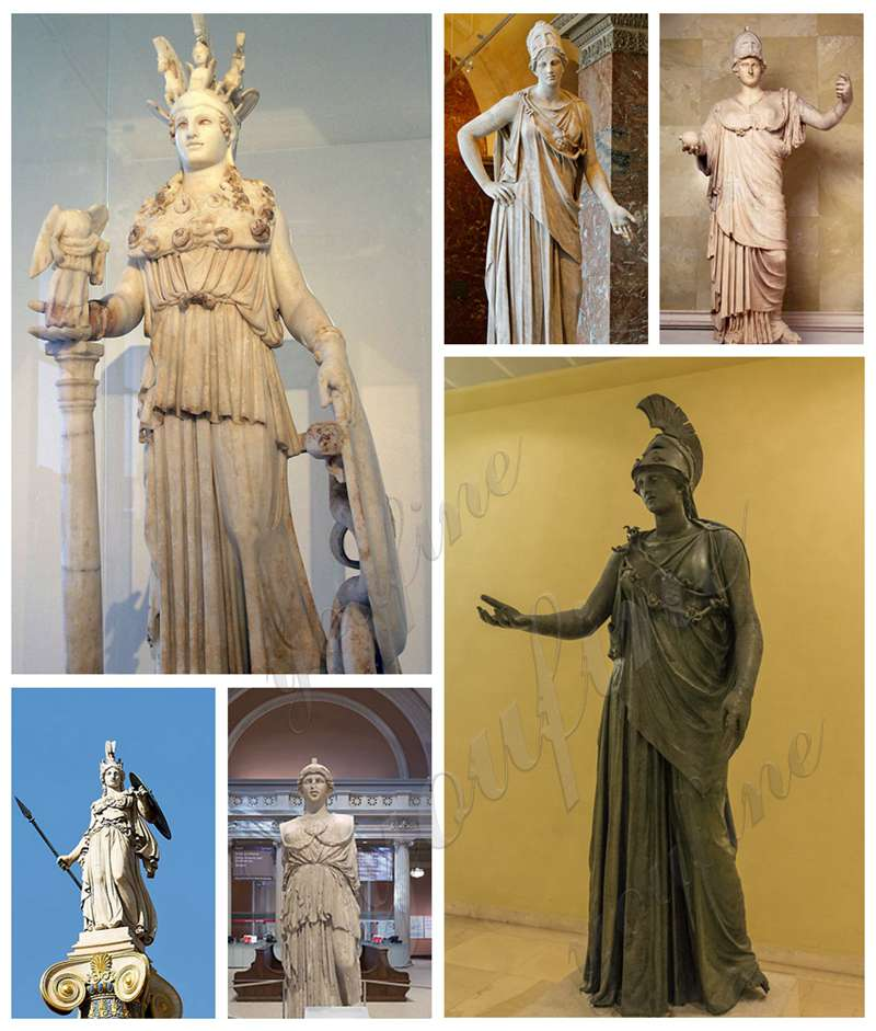 Some Famous and Ancient Athena Statues