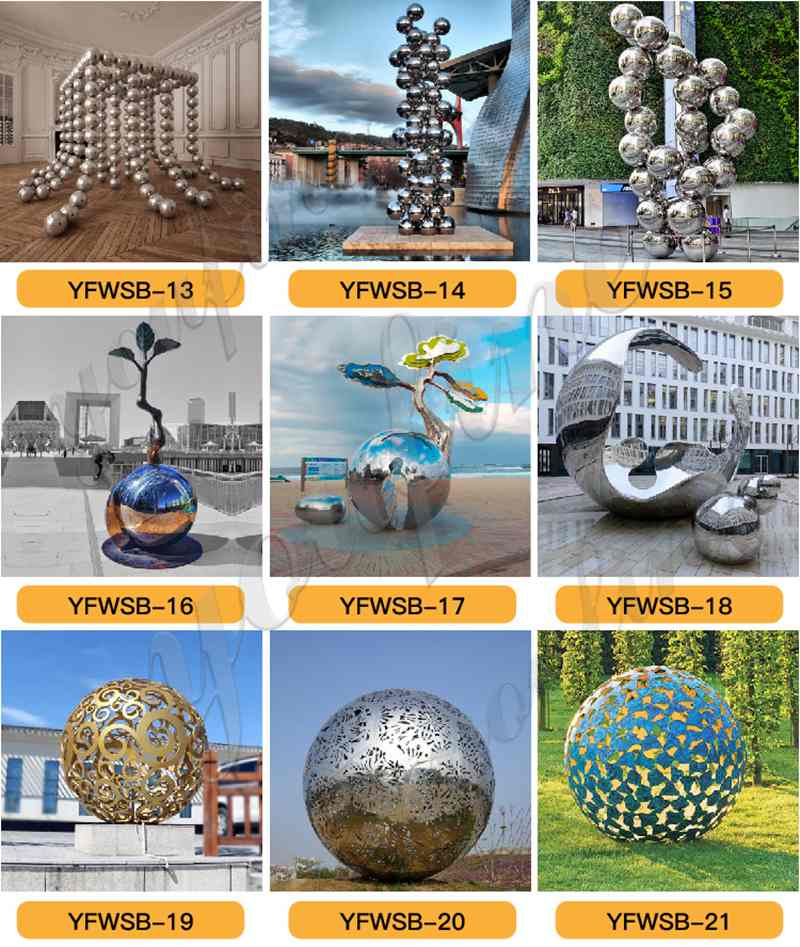Stainless Steel Sphere Sculpture for sale
