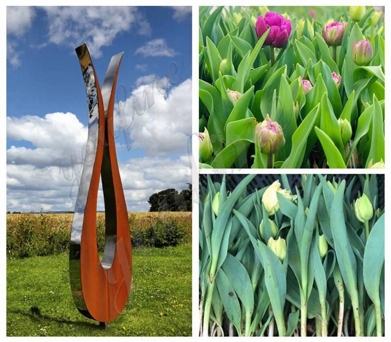 Tulip Corten Steel Sculpture