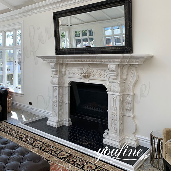 White Marble Georgian Fireplace Mantels Feedback from New Zealand Client