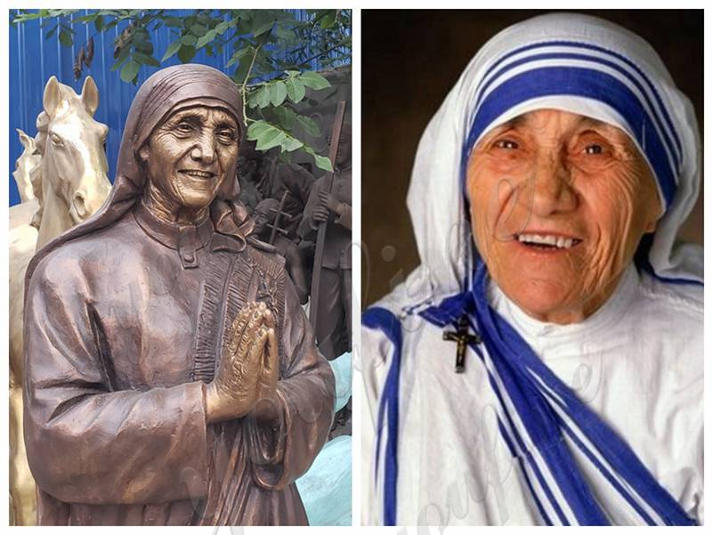 bronze Blessed Teresa statue