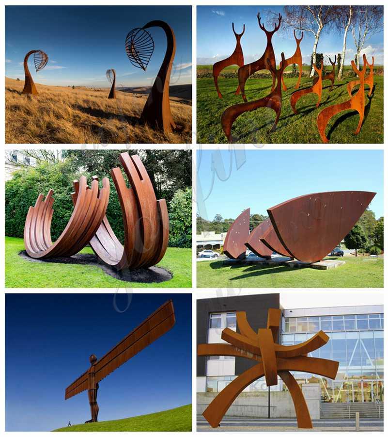 corten steel garden sculpture for sale