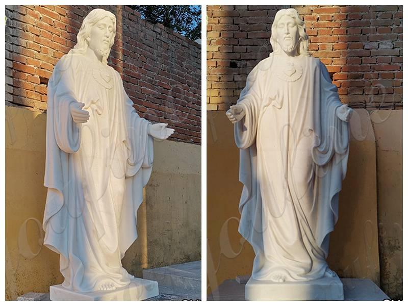 jesus christ marble statue