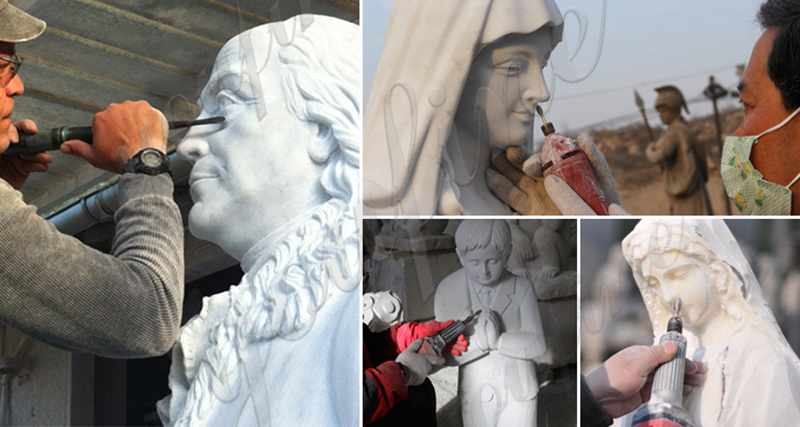process of Italian Marble Jesus Christ Statue