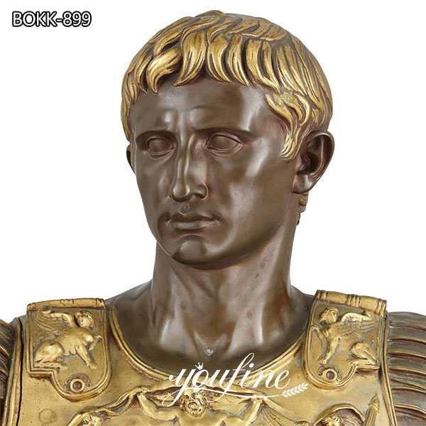 Augustus Caesar Bronze Sculpture by Barbedienne