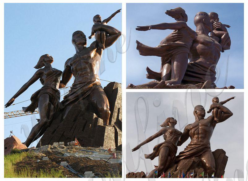 Bronze African Renaissance Monument Statue