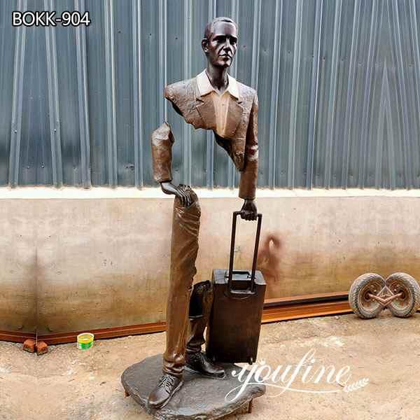 Famous Large Les Voyageurs Bronze Sculpture for Sale