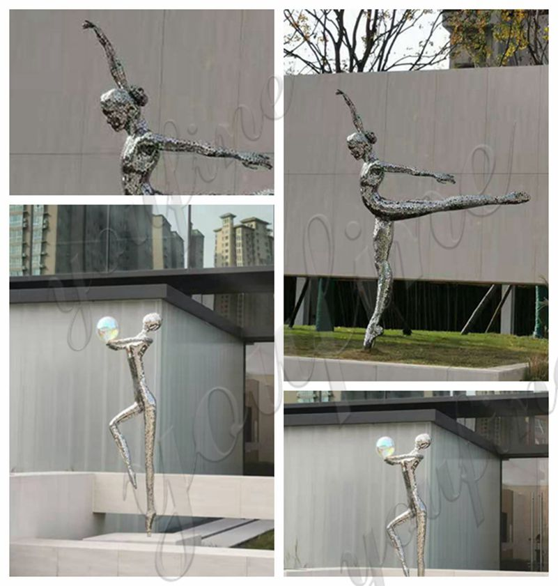 Female Stainless Steel Statue for Outdoor Garden for Sale