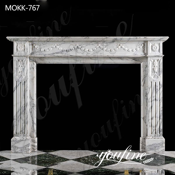 French Marble Fireplace Surround for Sale