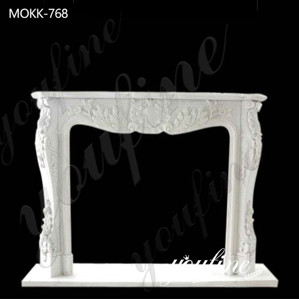Hand Carved French Marble Fireplace surround for Sale MOKK-768