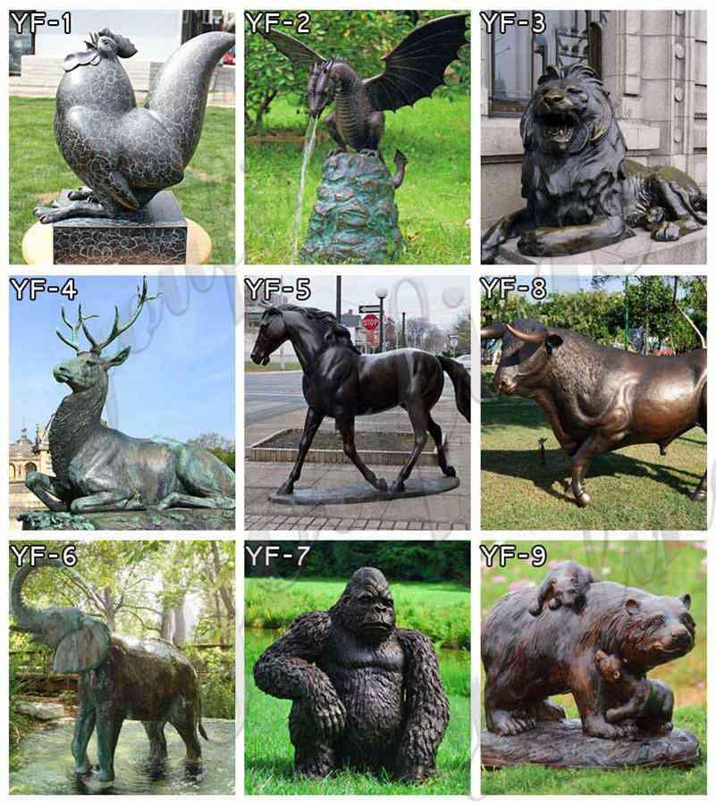 Garden Bronze Animal Sculptures